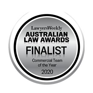 2020 Australian Law Awards – Commercial Team – Finalist